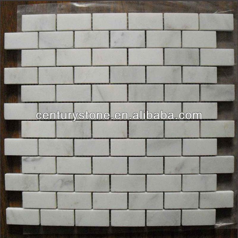 Oriental mosaico de m rmol blanco pared de ladrillo - Azulejos de marmol ...