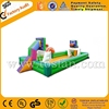 High quality inflatable soap soccer field inflatable football field with basketball hoop A6018