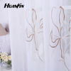flower embroidery curtain fabric,ready-made eyelet curtain