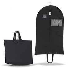 Breathable Mens Black Suit Garment Bags with Clear Zippered