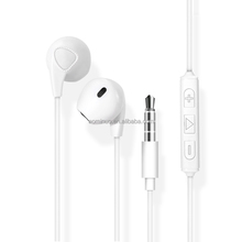 DHL free shipping high Sound quality Earphones Wired 3.5mm with Mic 1.1M In-ear Stereo headphone for iphone 4/5/6 samsung etc