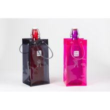 Transparent plastic pvc Promotional wine cooler ice bag