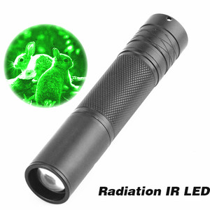 COURUI 5W 850nm Zoom Infrared Radiation IR LED Night Vision Flashlight Torch Light Lamp