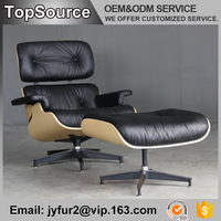 Living Room Furniture Luxury Classic Relaxing Chaise Lounge Chair With Ottoman