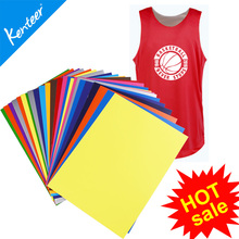 "Kenteer hot sale cheap PU A4 / 10""*12"" / 12""*12"" / 12""*15"" heat transfer film for clothing"