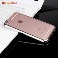 5 Colors Available Phone Case Ultra Thin Soft Tpu Transparent Clear Electroplating TPU Case for iPhone6 6s 6 plus