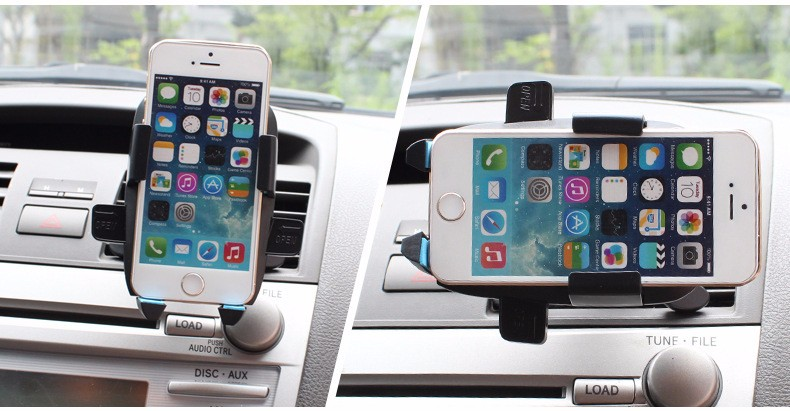 360 Degree Universal 4-6.3 Inch Car Holder Air Vent Mount Dock Mobile Phone Holder For Cell Phone GPS