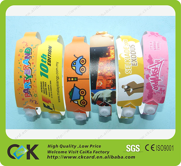 wholesale newly design one time use wristband for event