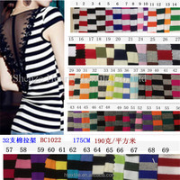 2014 newest popular high-end fashion accessories 32 cotton fabric indiana stripes stripe T-shirt fabric