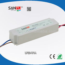 waterproof led driver IP67 20W 700ma ac to dc pcb mount power supply
