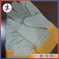 Suede surface chemical resistant leather gloves work gloves oil field gloves