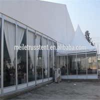 clear span marquee customized double glass door rental wedding party large event tents