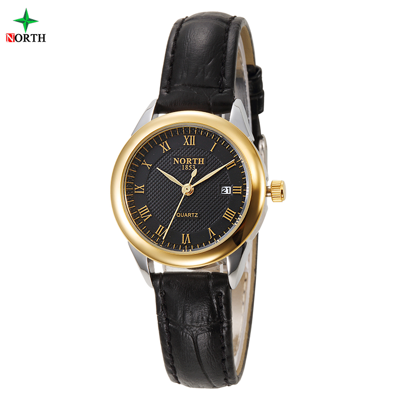 6019-1 Slim simple wrist watch stainless steel watch for lady