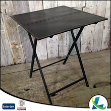 Black Rectangle Stand Folding Iron Coffee Table