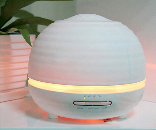 2017 new products led wood humidifier 300ml aroma diffuser essential oil