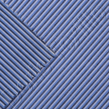 BLACK WHITE BLUE COTTON STRIPE FABRIC