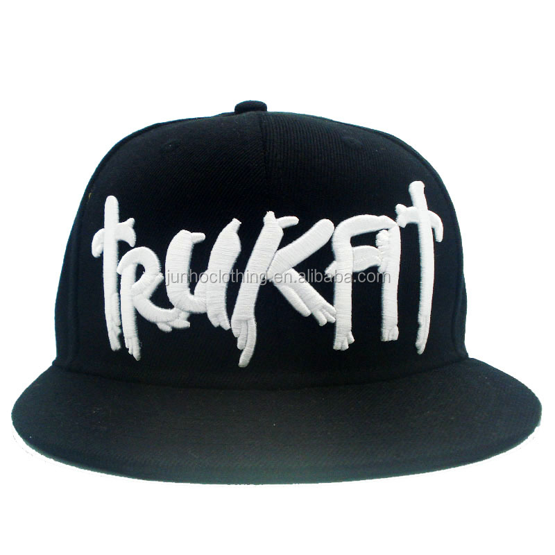 Fashion super crew flat brim snapback caps hats men 80% acrylic 20% wool black nigga snapback hip hop cap hat