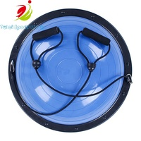 Colorful Body Fitness Massage Bouncing Ball 52cm 2600g Inflatable PVC ABS Borad with Elastic String Balance Trainer at Home