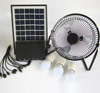 Small solar system with fan 3 leds 1 * 10 mobile charger 6 w solar panel,portable solar fan lighting systerm