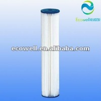 "20"" pleated filter cartridge,washable polyester cartridge"