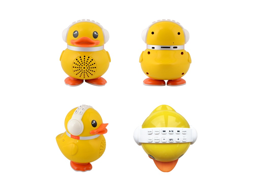 Yellow duck early Education Speaker toy for kids' learning