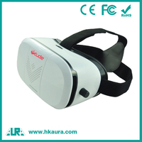 Portable customized ABS virtual reality glasses 3d for 3.5-5.5 inch mobile phone