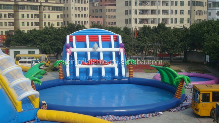 inflatable floating water slide/inflatable large pool water slide/inflatable pool