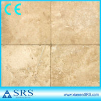 Interior yellow travertine pavers