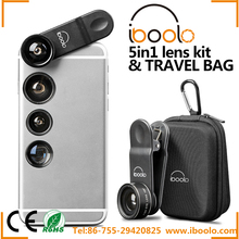 Iboolo brand available in various types 5 in 1 lens for mobile phone camera