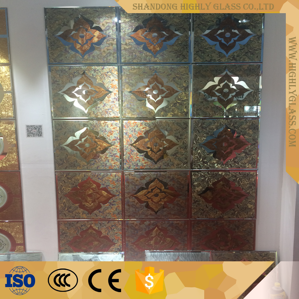 Office partion wall design with decorative glass blocks
