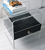 waterfall transparent lucite bedside table with drawer