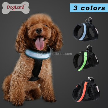LED Mesh Harness Vest for dog