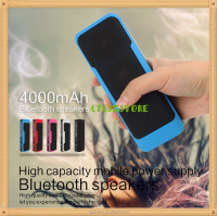Sporter Best Portable Bluetooth Speaker with 4000mAh Battery Power Bank FM Radio Touch Control