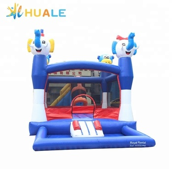 Animal jumping castle Mini inflatable bouncer for kids