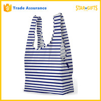 Alibaba China Supplier Wholesale Foldable Striped Cheap Folding Shopping Bag