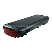 rear rack 36v electric bike battery with led lamp for lithium battery 8.8ah ebike battery for 200w-500w motor