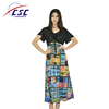 Summer Women Chiffon Boutique Printed Floral Fashion Custom printed casual dress