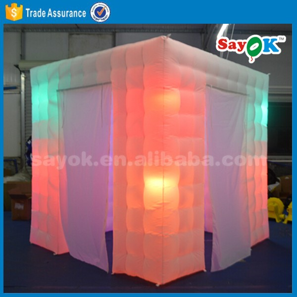 wedding photobooth inflatable with led light portable photo booth tent