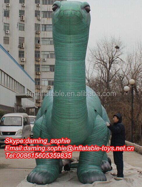 Outdoors promotional inflatable dinosaur mascot for show/events