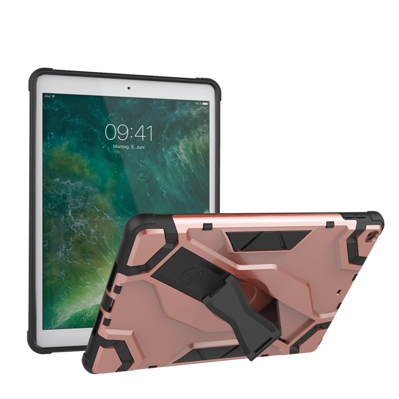 For iPad 2017 9.7 Kickstand Combo Cover With Hand Grip Hybrid Case