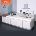 Wholesale high gloss cheap modern modular white kitchen cabinets