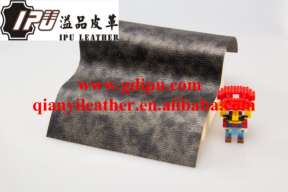 hot sell 100% polyurethane bonded embossed faux suede leather for sofa , cushions, chairs