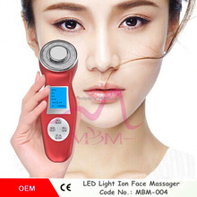 Beauty Union Portable Ultrasonic LED Photon Lights Therapy Lifting Face Skin Rejuvenation Wrinkle Remover