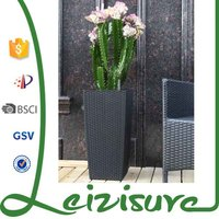 synthetic rattan garden decoration artificial flowers home garden flower planters and pots leizisure