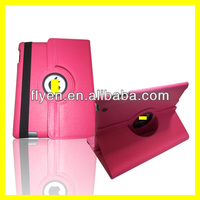 360 Degree Rotating PU Leather Case for iPad 4 3 2 Smart Cover w Magnetic Swivel Stand for Apple iPad Accessories Hot Pink