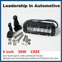 car accessory Good waterproof 6inch 30w 4x4 driving cree Single Row Light Bars Offroad Auto Led Light Bars