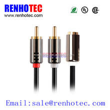 Renhotec Best Price 2 rca Male to RCA female cable