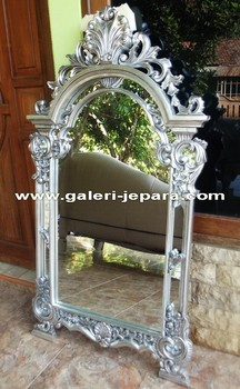 American English Furniture - Silver Leaf Mirrors Bedroom Set
