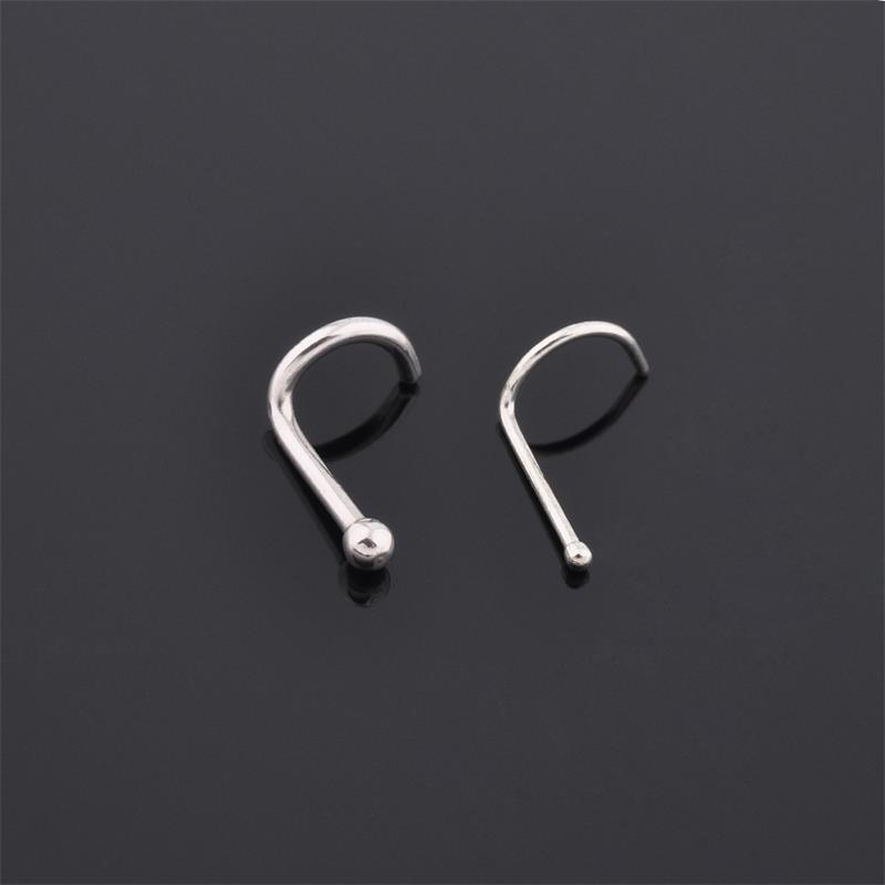 Hot selling nose piercing surgical steel 20g titanium plated twist in nose screw ring with ball end
