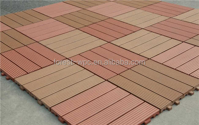Diy wpc interlocking composite decking tiles cheap deck for Cheap composite decking